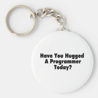 Have You Hugged A Programmer Today Basic Round Button Keychain