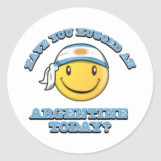 Have you hugged an Argentine today? Classic Round Sticker