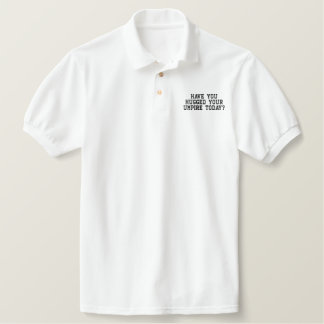 Have you hugged your umpire today? embroidered shirts