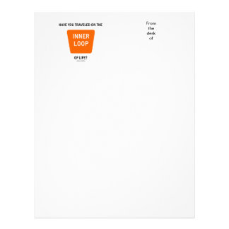 Have You Traveled On The Inner Loop Of Life? Letterhead Template