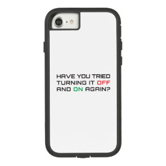 Have you tried turning it off and on again? Case-Mate tough extreme iPhone 8/7 case