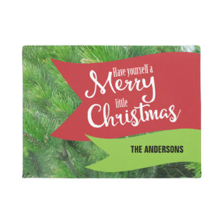 Have Yourself A Merry Little Christmas Personalize Doormat