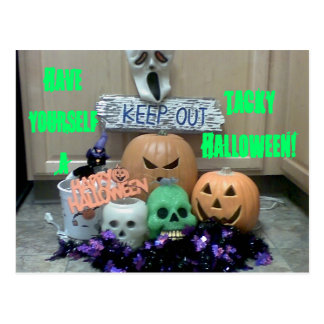 Have Yourself a Tacky Halloween Postcard