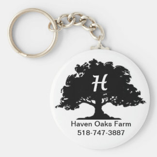 Haven Oaks Farm Keyring Basic Round Button Keychain