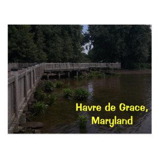 Havre de Grace Boardwalk Postcard