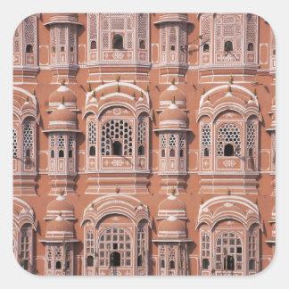 Hawa Mahal (Palace of Winds), Jaipur 2 Square Sticker