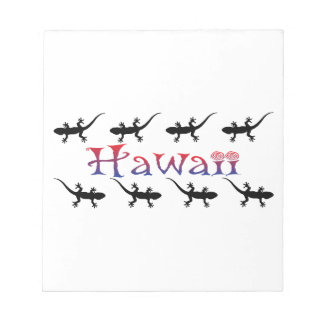 hawai geckos notepad