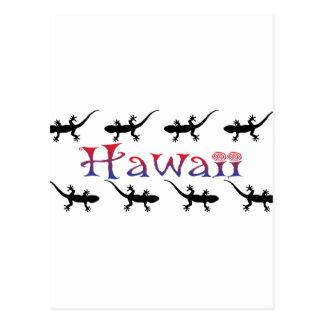 hawai geckos postcard
