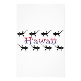 hawai geckos stationery