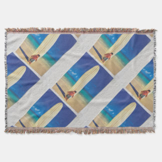 Hawai surf throw blanket