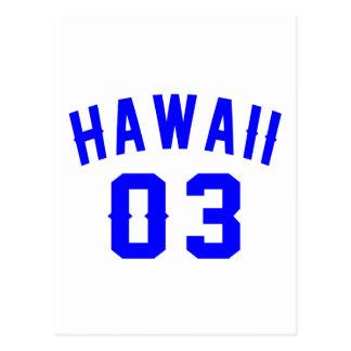 Hawaii 03  Birthday Designs Postcard