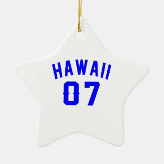 Hawaii 07 Birthday Designs Ceramic Star Ornament