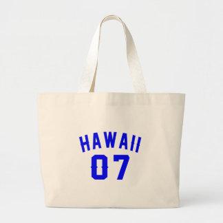 Hawaii 07 Birthday Designs Large Tote Bag