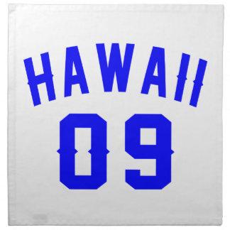 Hawaii 09 Birthday Designs Napkin