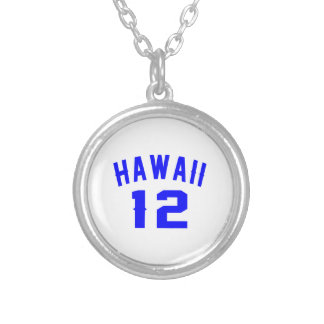 Hawaii 12 Birthday Designs Silver Plated Necklace