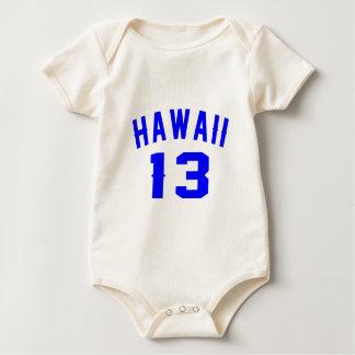 Hawaii 13 Birthday Designs Baby Bodysuit