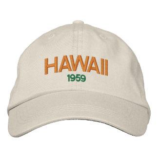 Hawaii 1959 Statehood Hat' Embroidered Hat