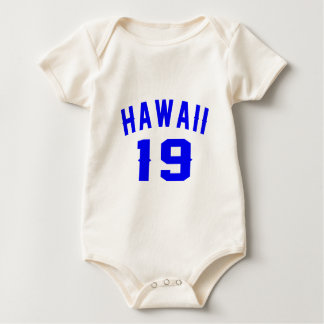 Hawaii 19 Birthday Designs Baby Bodysuit