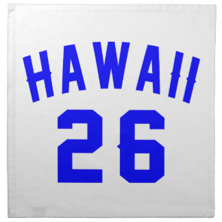 Hawaii 26 Birthday Designs Napkin