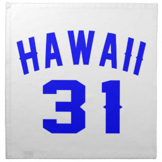 Hawaii 31 Birthday Designs Napkin