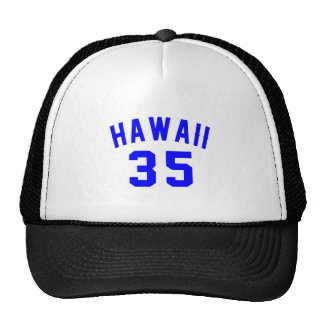 Hawaii 35 Birthday Designs Trucker Hat