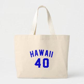 Hawaii 40 Birthday Designs Large Tote Bag