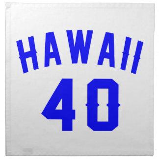 Hawaii 40 Birthday Designs Napkin