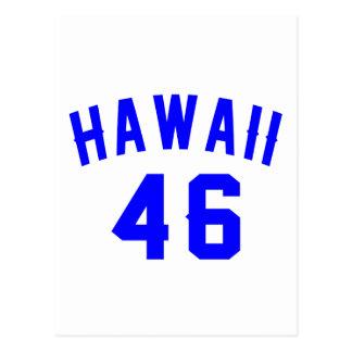 Hawaii 46 Birthday Designs Postcard