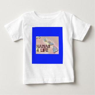 """Hawaii 4 Life"" State Map Pride Design Baby T-Shirt"