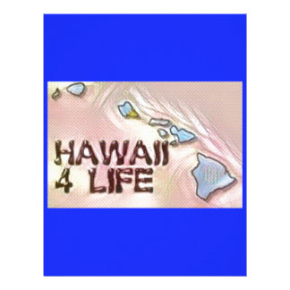 """Hawaii 4 Life"" State Map Pride Design Letterhead"