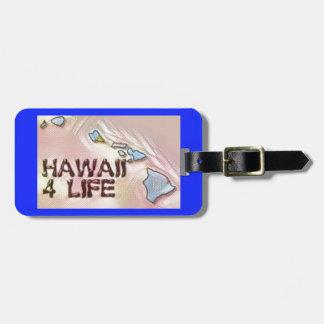 """Hawaii 4 Life"" State Map Pride Design Luggage Tag"