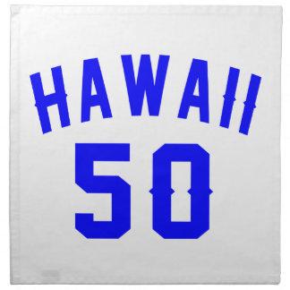 Hawaii 50 Birthday Designs Napkin