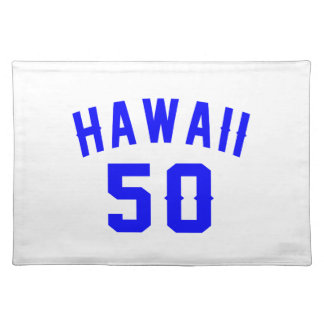 Hawaii 50 Birthday Designs Placemat
