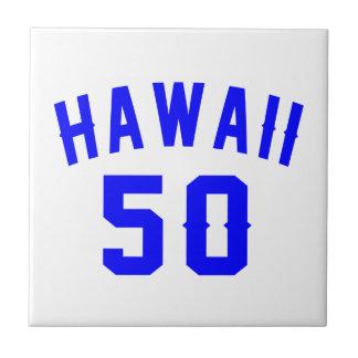 Hawaii 50 Birthday Designs Tiles