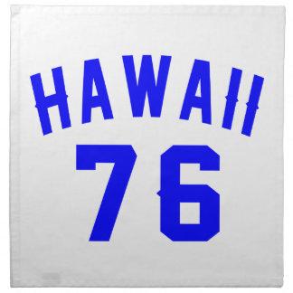 Hawaii 76 Birthday Designs Napkin