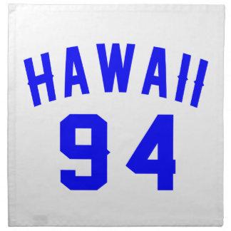 Hawaii 94 Birthday Designs Napkin