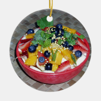Hawaii Acai Bowl Ceramic Ornament