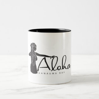 Hawaii Aloha Hula Dancer Two-Tone Coffee Mug