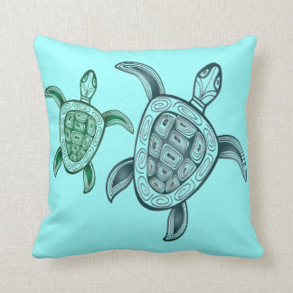 Hawaii Aloha Turtle Throw Pillow