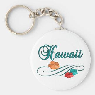 Hawaii Basic Round Button Keychain