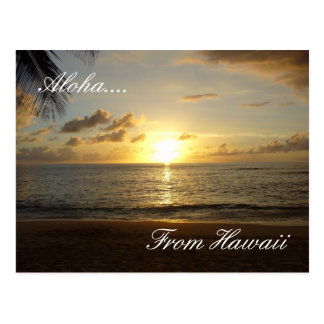Hawaii Beach 3, Aloha...., From Hawaii Postcard