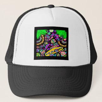 HAWAII  BEACH ART TRUCKER HAT