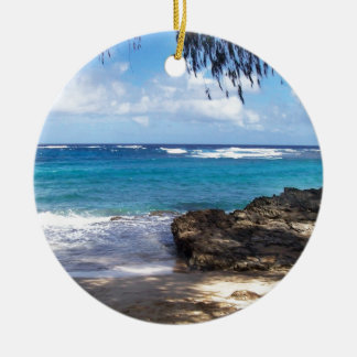 Hawaii Beach Ceramic Ornament