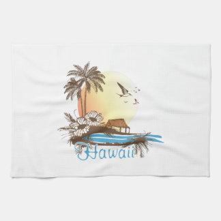 Hawaii Beach Hut Kitchen Towel