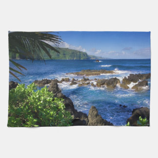Hawaii Beach Scenery Kitchen Towel