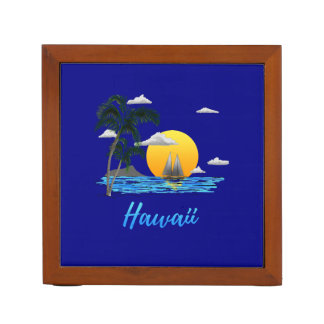 Hawaii Beach Sunset Desk Organizer