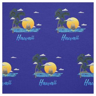 Hawaii Beach Sunset Fabric