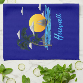 Hawaii Beach Sunset Kitchen Towel