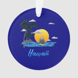 Hawaii Beach Sunset Ornament