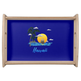 Hawaii Beach Sunset Serving Tray